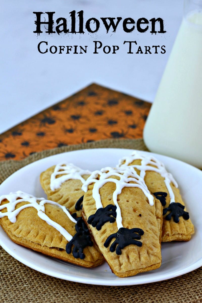 pin coffin pop tarts with milk