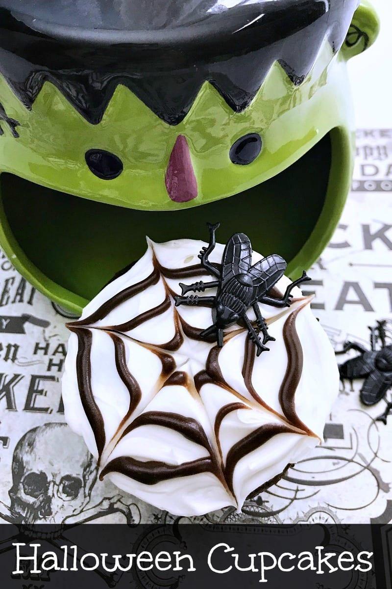 pin frankie eating spider web cupcake