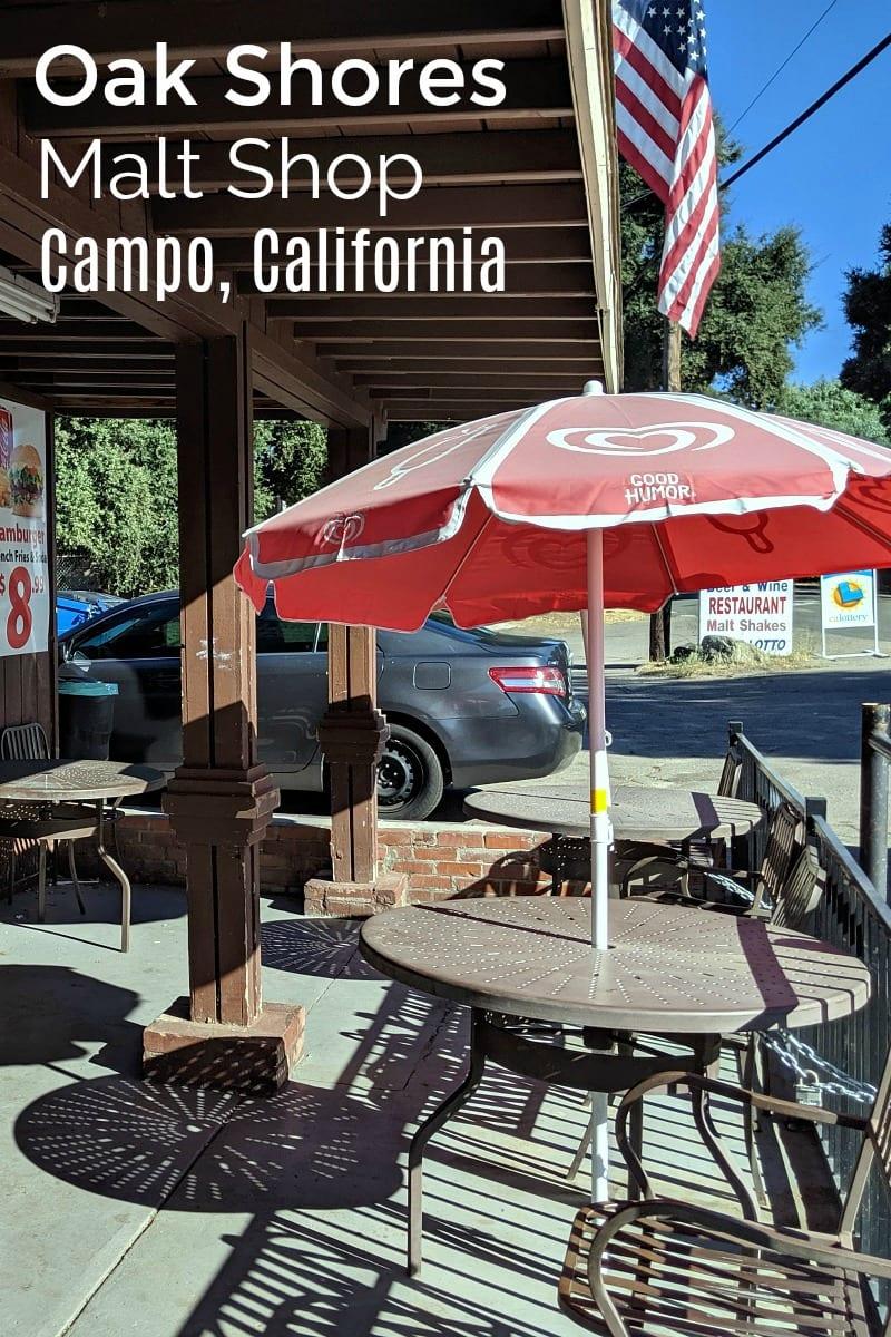 Oak Shores Malt Shop in Campo, California #OakShores #MaltShop #Campo #CampoCalifornia #LakeMorena #SanDiego #Diner