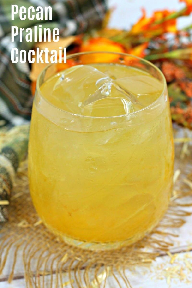 Bourbon Pecan Praline Cocktail Recipe #Cocktail #Recipe #Bourbon #cocktails #BourbonCocktail #PecanPraline #SouthernCocktail #Beverage #AdultBeverage