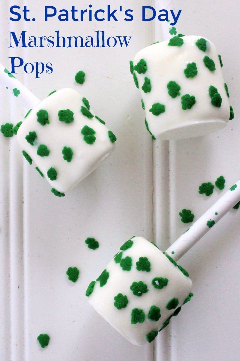 St. Patrick's Day Irish Marshmallow Pops Recipe #MarshmallowPops #MarshmallowPop #StPatricksDay #StPatricksDayParty #PartyFood #IrishPartyFood