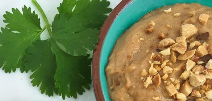 cilantro and peanut sauce