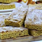 Pumpkin Snickerdoodle Cookie Bar Recipe