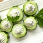 Feta Stuffed Cucumber Appetizer Bites Recipe