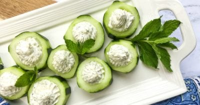 feature stuffed cucumber appetizer