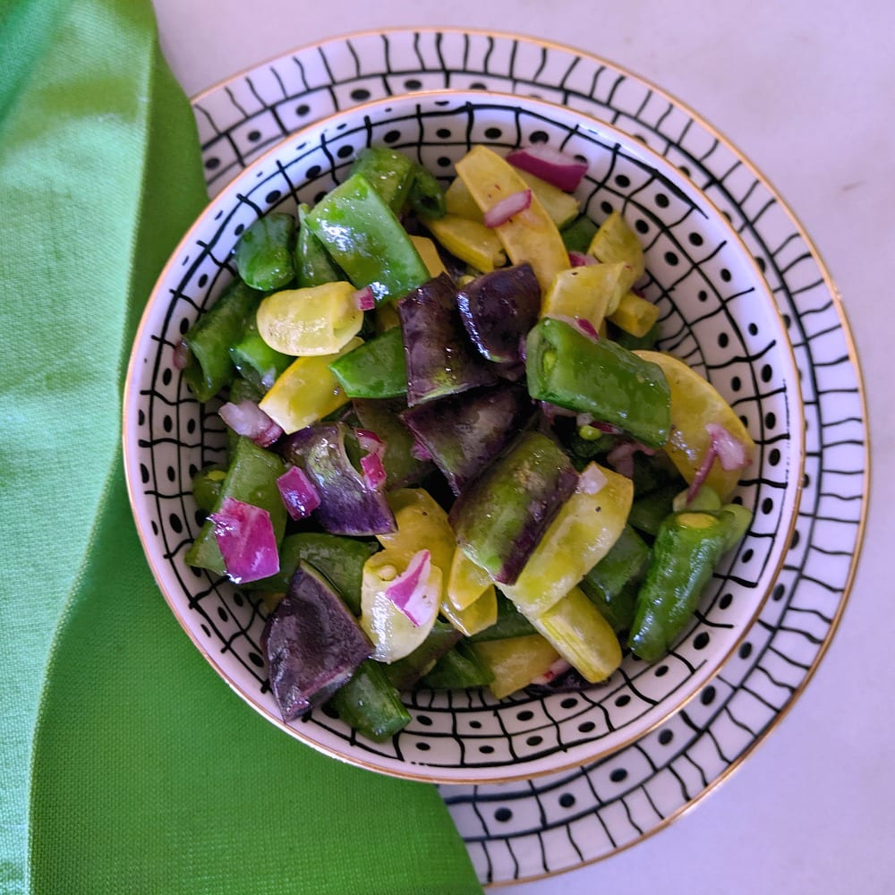 insta sugar snap pea salad