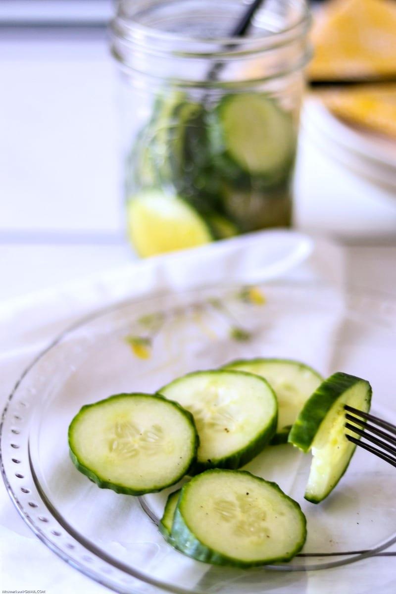 Cider Vinegar Refrigerator Pickles Recipe #Recipe #Pickles #RefrigeratorPickles #QuickPickles