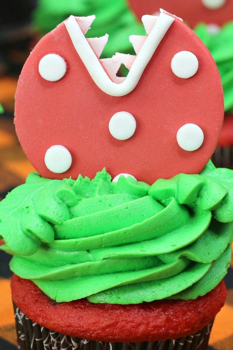 no text pin audrey ii cupcake decorations close up
