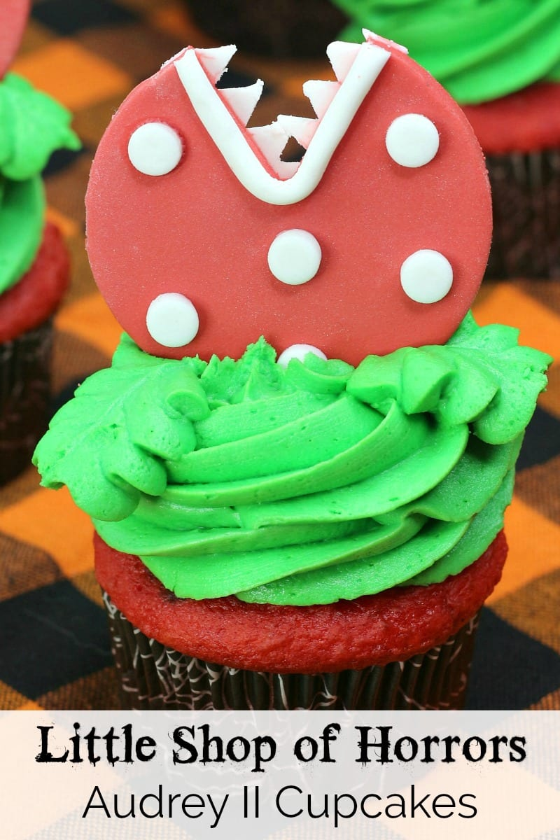 pin Little Shop audrey ii cupcake close up