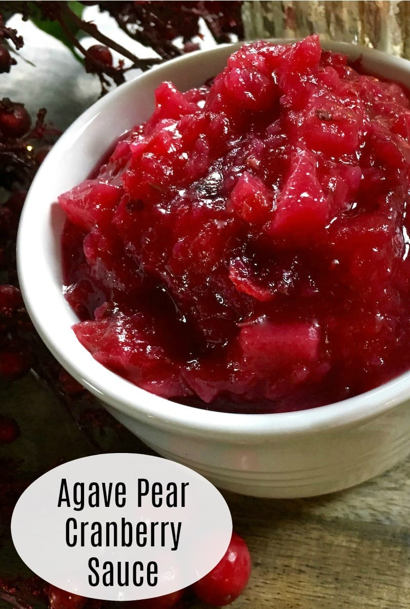pin agave pear cranberry sauce