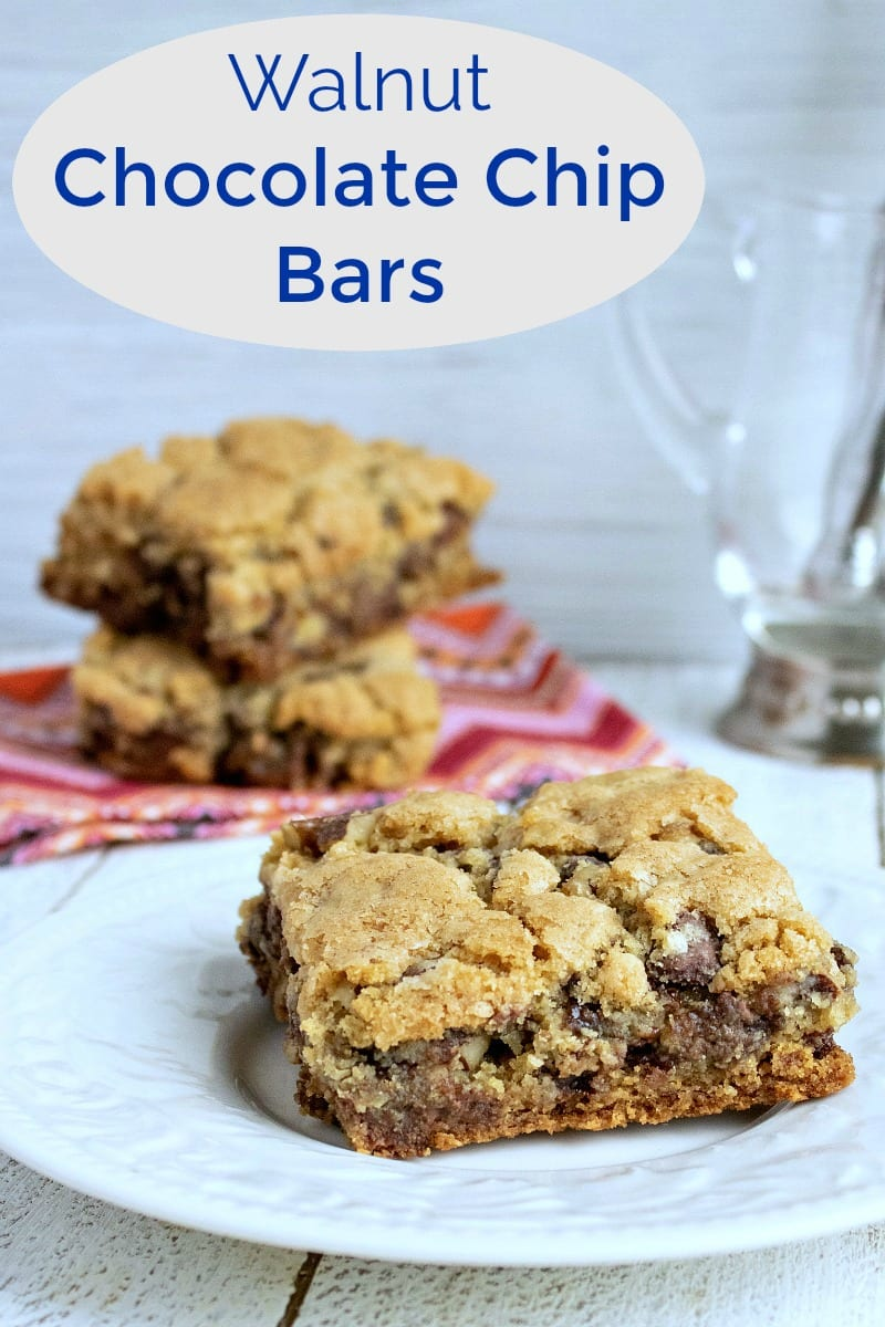 pin cookie bars with chocolate and nuts