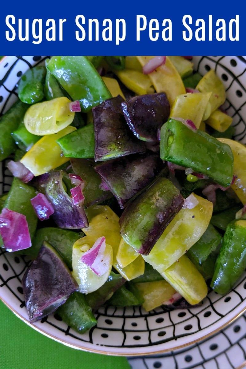 Easy Sugar Snap Pea Salad Recipe #SugarSnapPeas #Salad #SaladRecipe #PeaSalad #Recipe #SnapPeas #SpringSalad