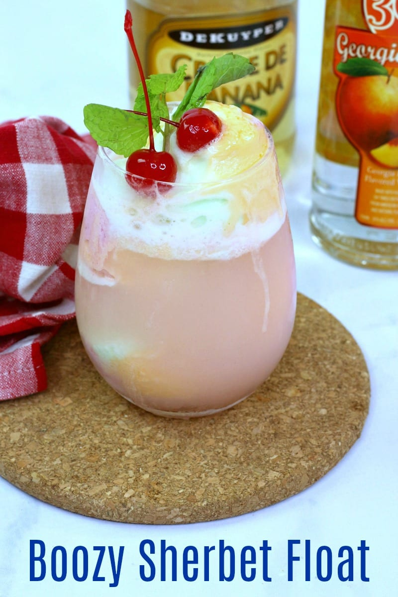 pin sherbet punch and liqueur