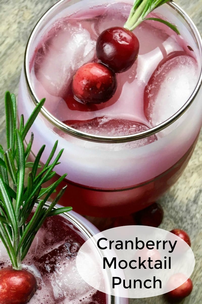 text pin cranberry non alcoholic punch