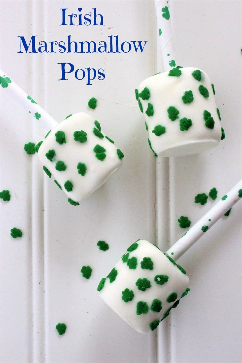 text pin st patricks day marshmallow pops