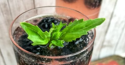 feature basil blackberry drink
