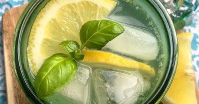 feature lemon herb mocktail