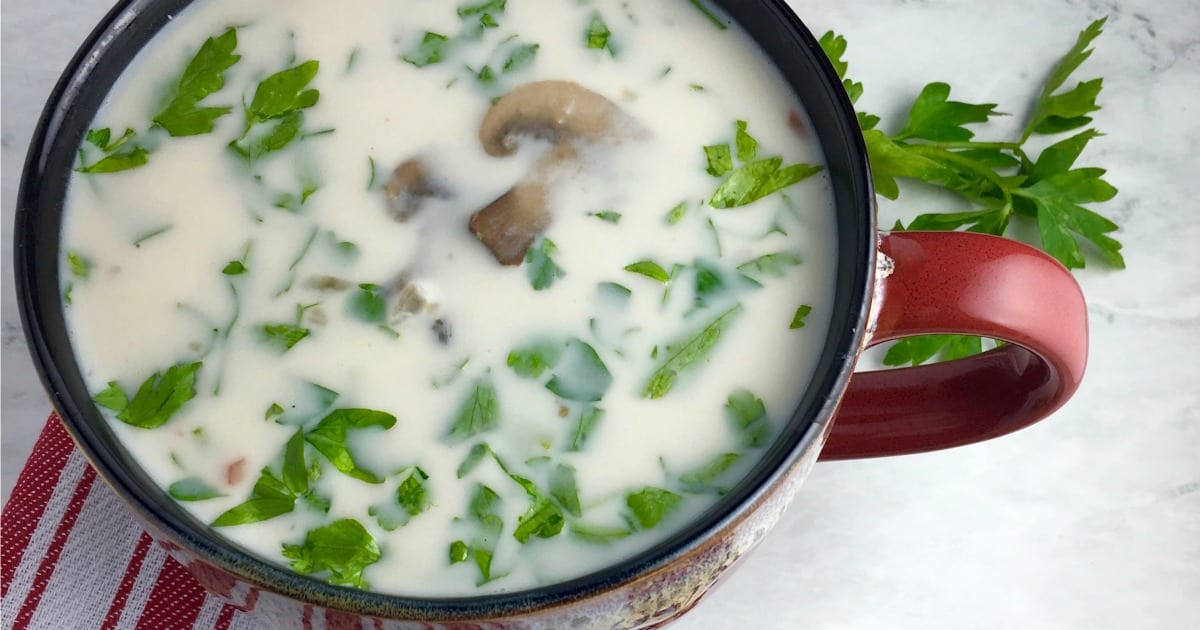 feature vegan wild rice soup