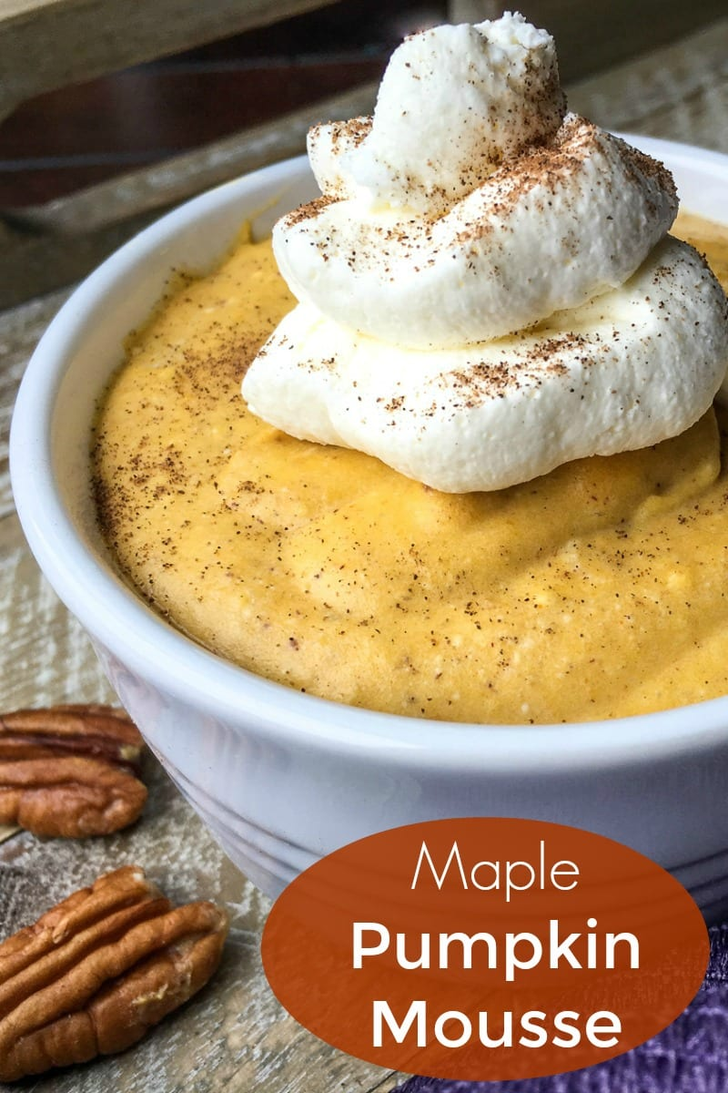 Maple Pumpkin Mousse Recipe #PumpkinMousse #Mousse #GlutenFree #GlutenFreeDessert #NoBakeDessert