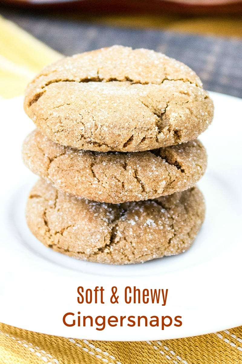 Soft and Chewy Gingersnap Cookies Recipe #Recipe #CookieRecipe #Gingersnaps #GingerCookies #Ginger #GingersnapCookies #Chewy #ChewyCookies