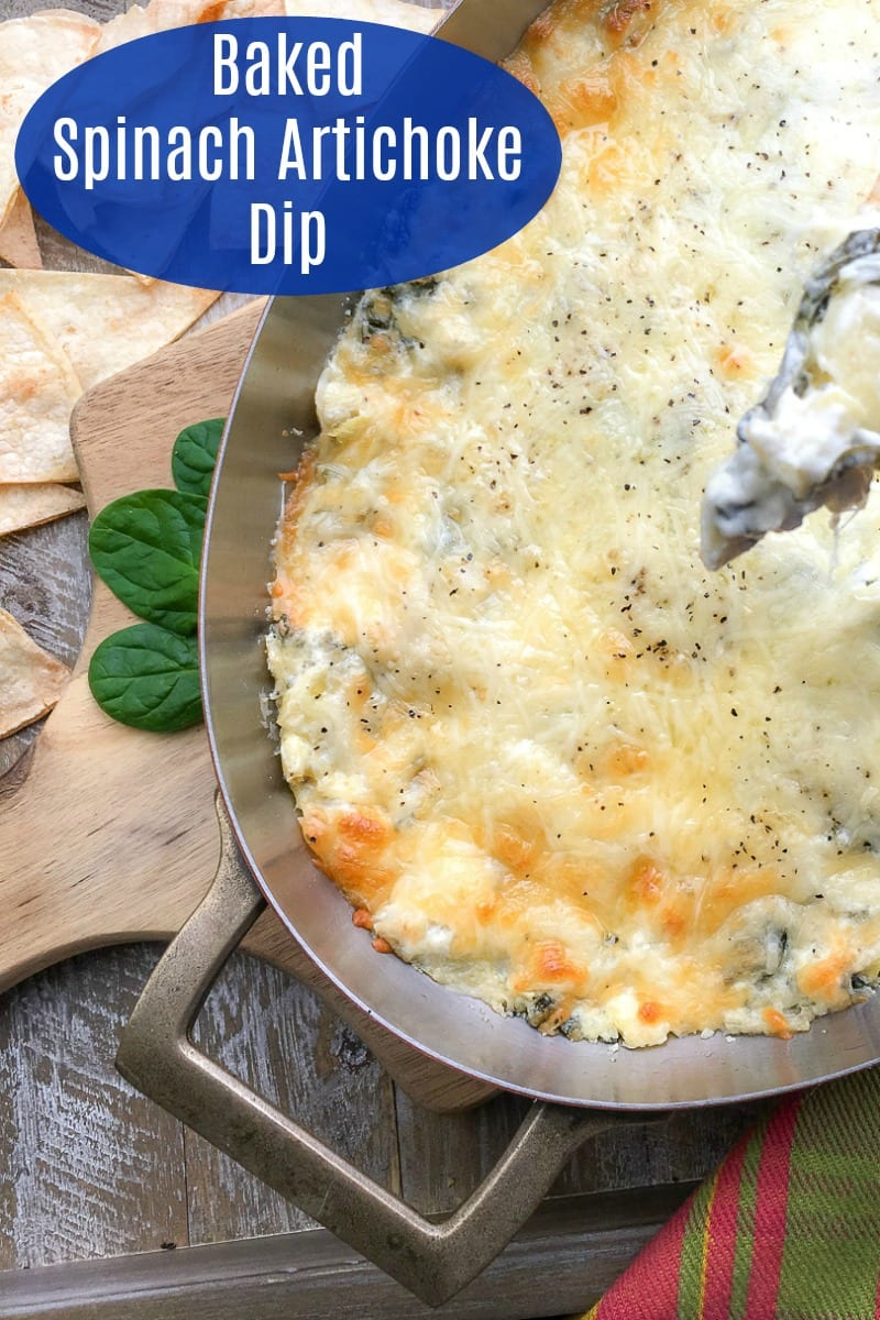 pin a warm artichoke spinach dip