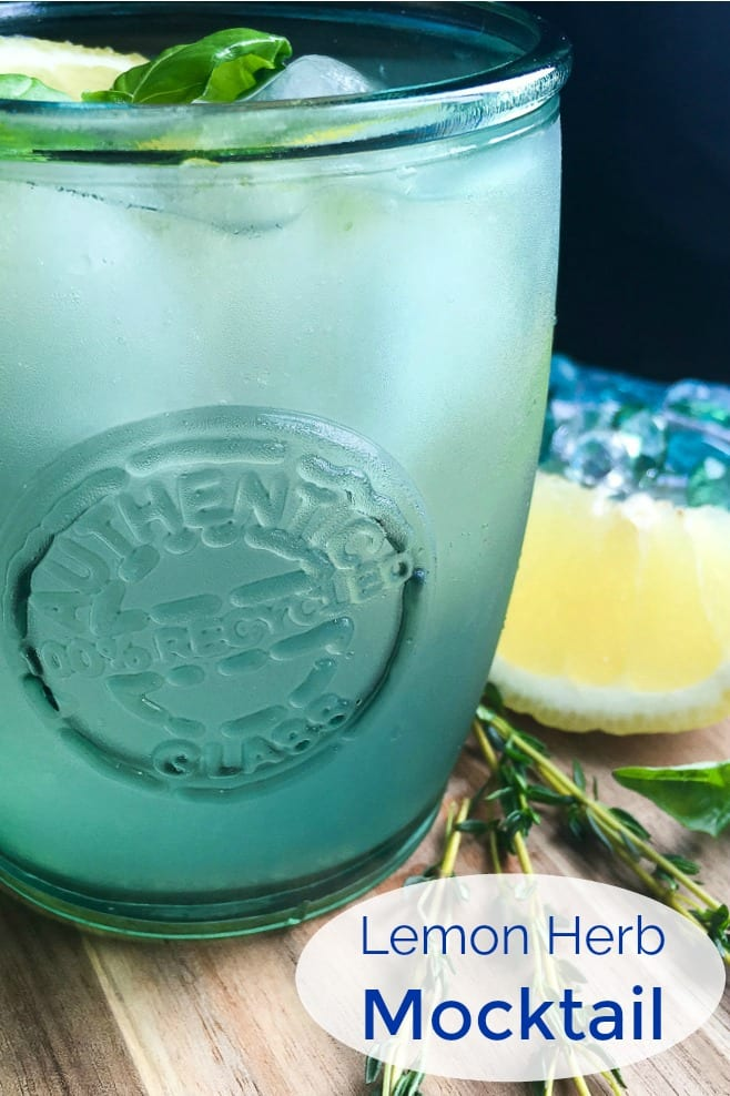 pin an herb lemon mocktail