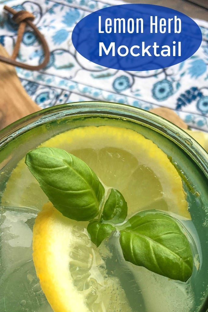 Refreshing Lemon Herb Mocktail Recipe #Mocktail #PartyDrink #VirginDrink #LemonMocktail