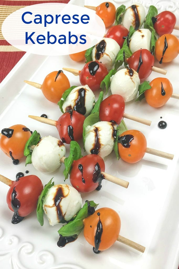 pin caprese kebabs on platter