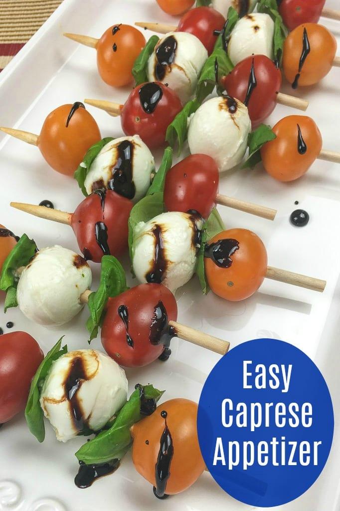 Traditional Caprese Kebab Recipe #FoodOnAStick #Caprese #CapreseKebab #CapreseSkewer #PartyAppetizer