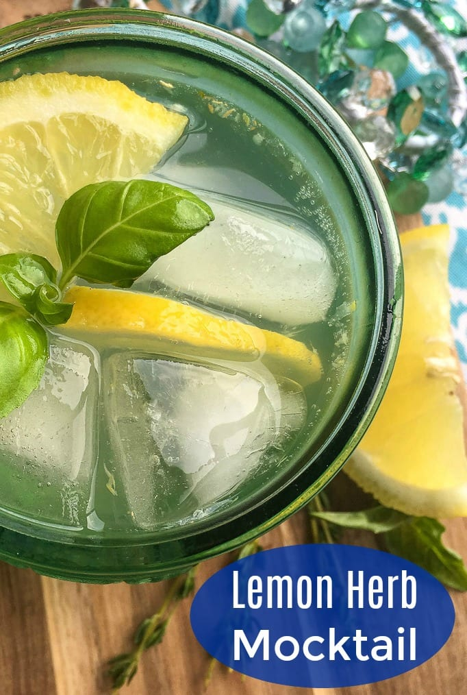 Refreshing Lemon Herb Mocktail Recipe #Mocktail #PartyDrink #VirginDrink #LemonMocktail