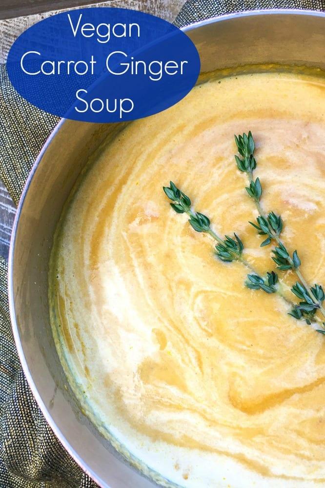 Creamy Vegan Carrot Soup Recipe #Soup #SoupRecipe #VeganSoup #CarrotSoup #VegetarianSoup