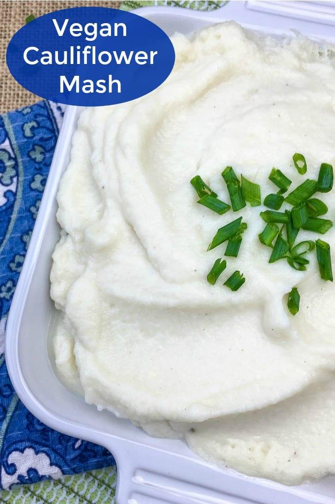 pin vegan mashed cauliflower