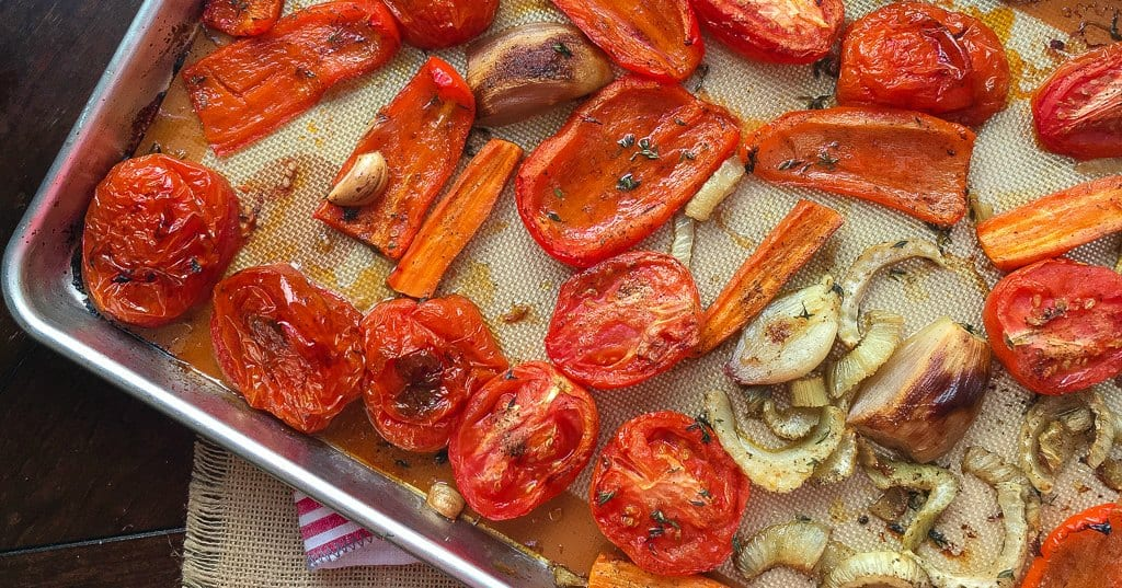 roasted veggies for soup