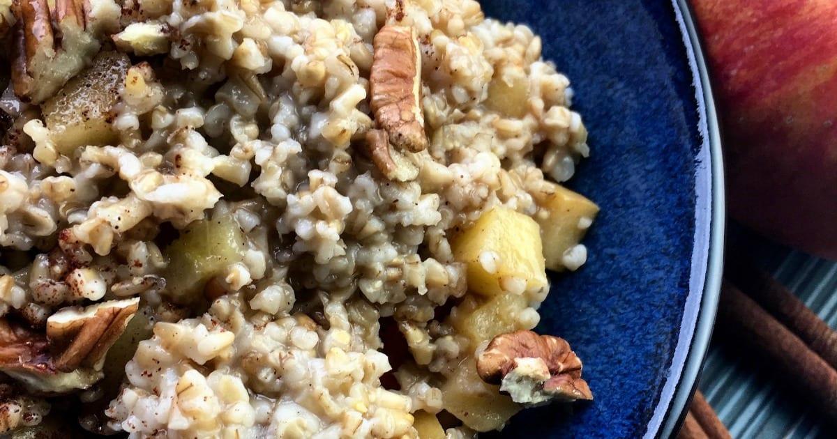 feature apple cinnamon slow cooker oatmeal