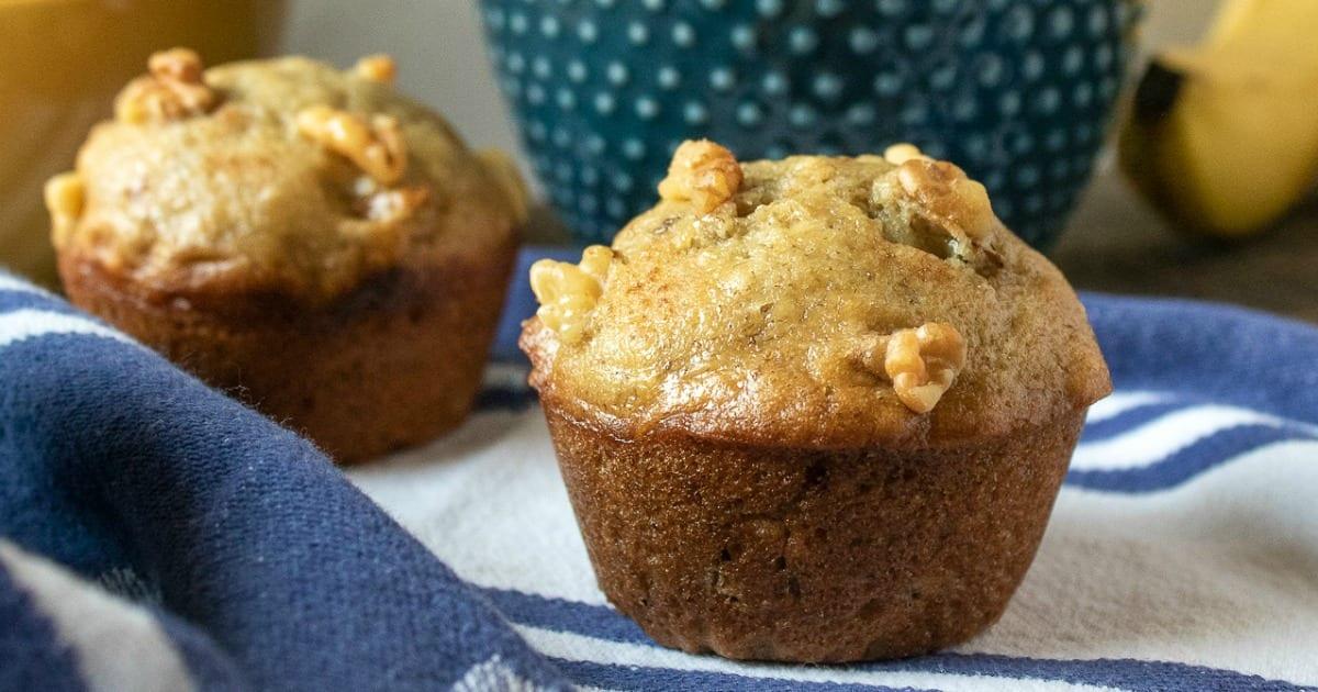 feature banana walnut muffins