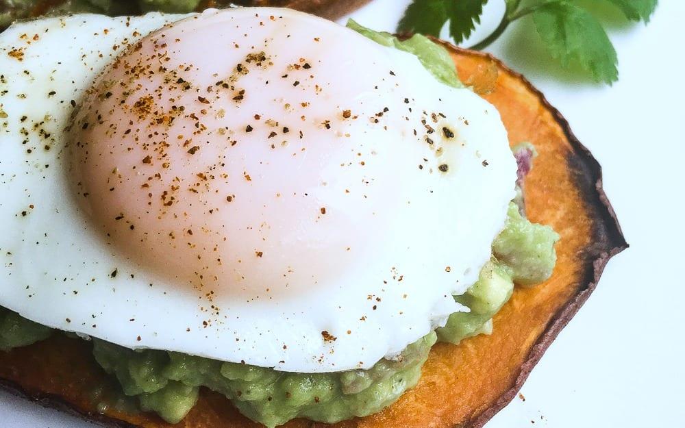 feature egg avocado sweet potato toast