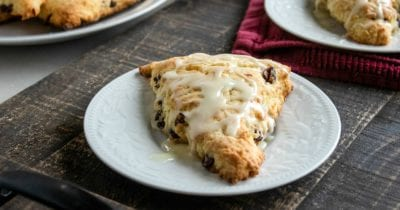 feature glazed cranberry scones