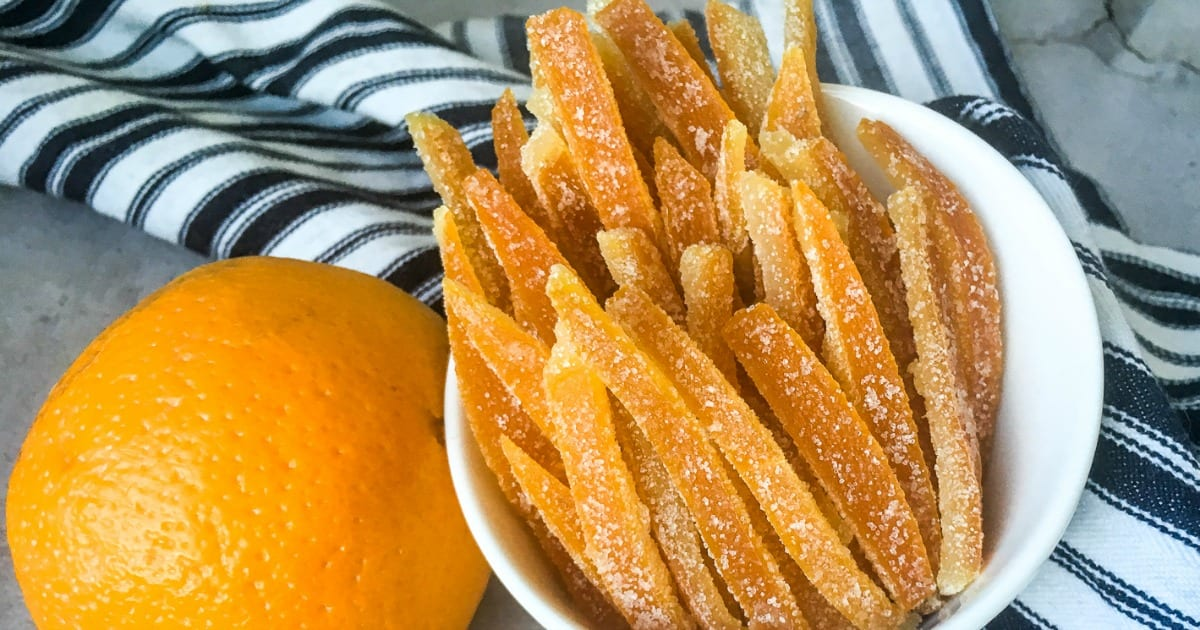 feature old fashioned candied orange peel