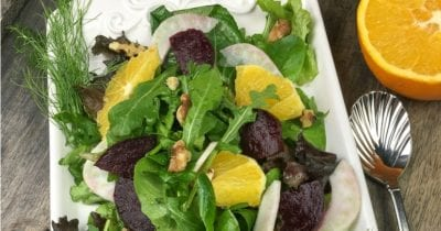 feature roasted beet citrus salad