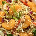 Mandarin Salad with Sriracha Peanut Dressing