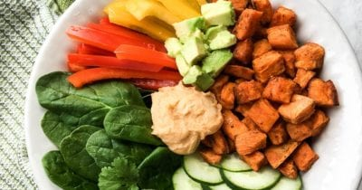 sweet potato sriracha buddha bowl