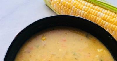 feature vegan sweet corn chowder