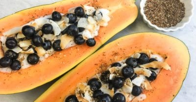 feature yogurt papaya boat breakfast