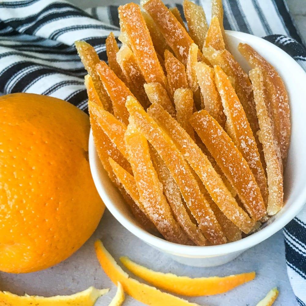 insta candied orange peel