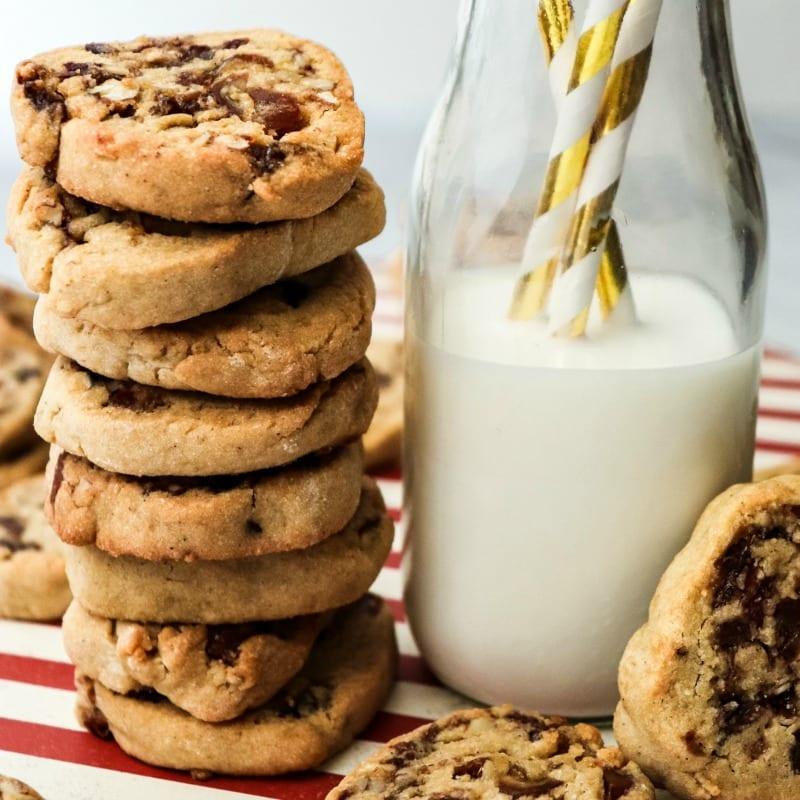 insta date pinwheel cookies milk