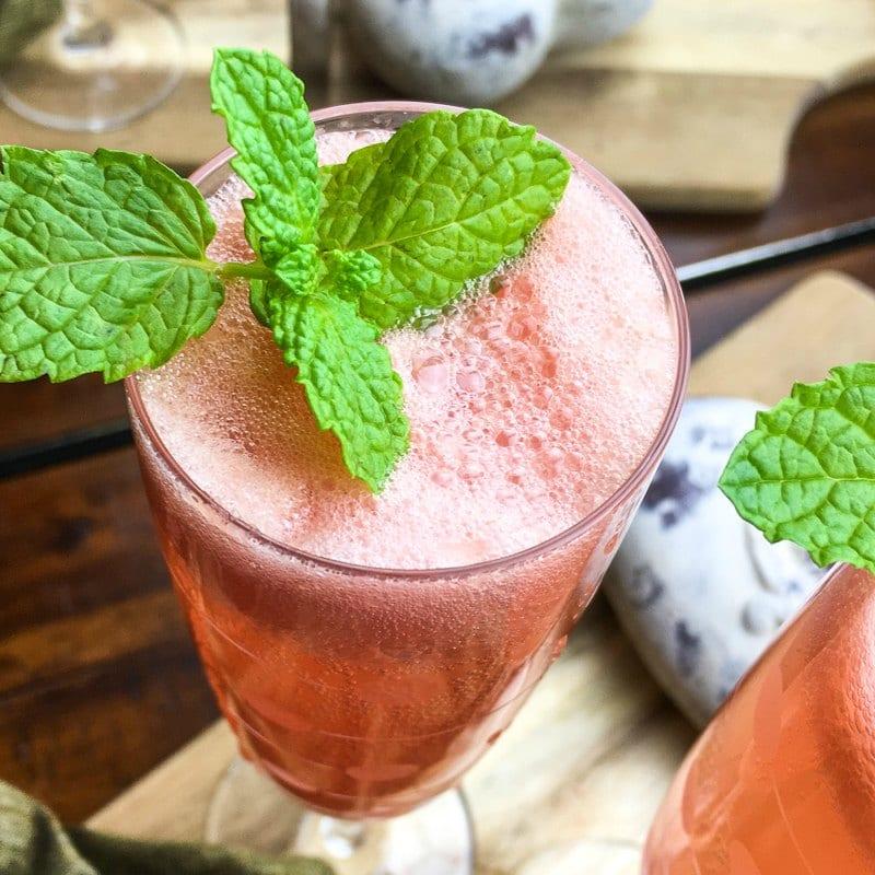 insta pink grapefruit mimosa