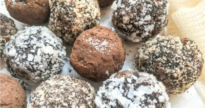 no bake chocolate truffles with hazelnuts