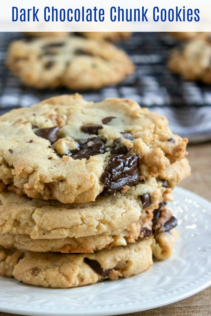 Walnut Dark Chocolate Chunk Cookies Recipe #Cookies #CookieRecipe