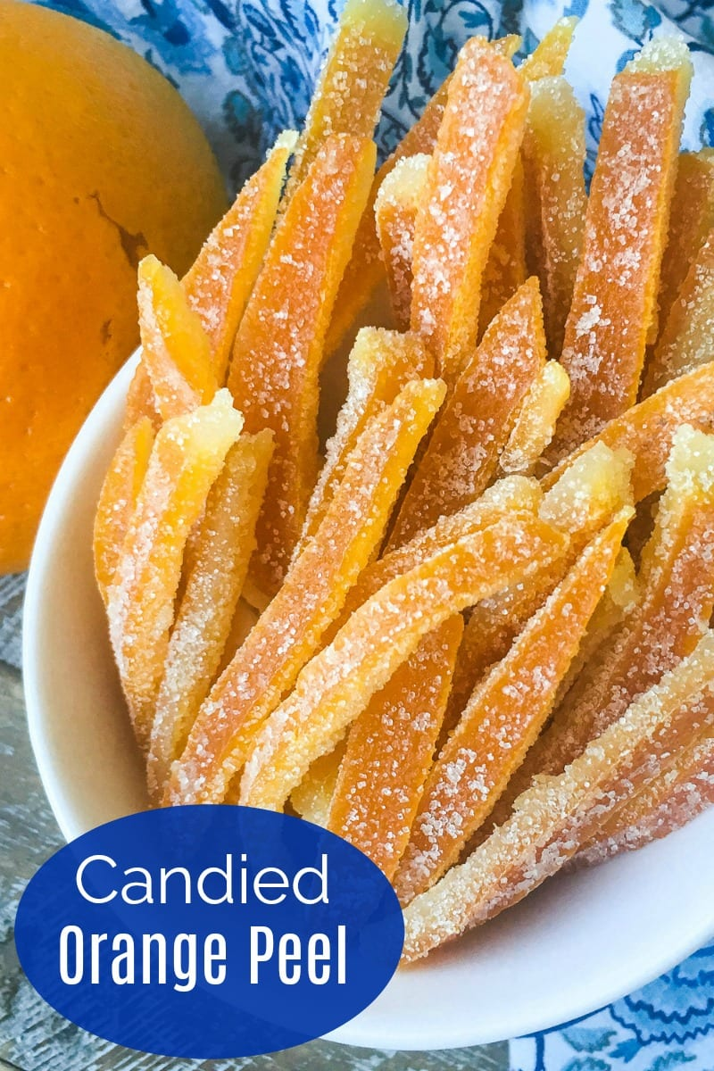 Old Fashioned Candied Orange Peel Recipe #CandiedFruit #SugaredFruit