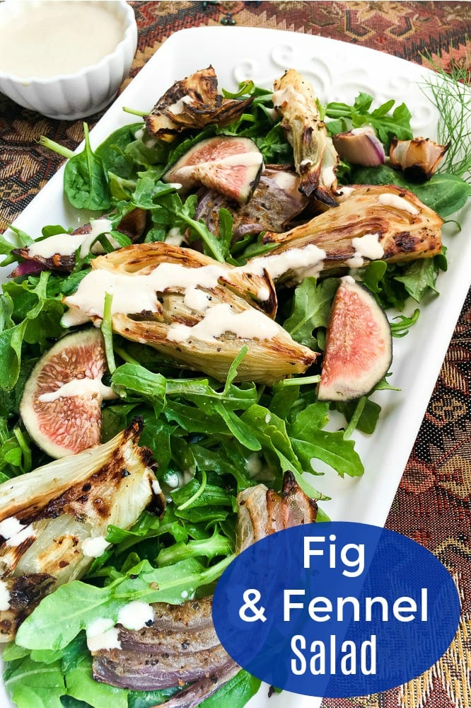 Fig and Fennel Salad with Lemon Dressing Recipe #figs #fennel #saladrecipe